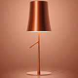 FOSCARINI BIRDIE LED TABLE BIG TOUCH DIMMER COPPER